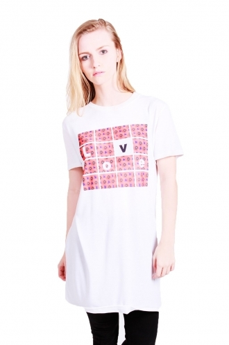 FFOMO Zahra t-shirt dress with poppy print and love slogan