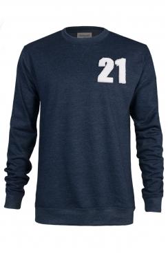 Zeke 21 Applique Patch Navy Sweatshirt