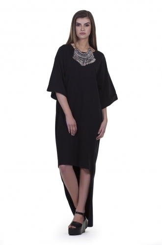 FFOMO Ziggy Low- High Hem T-shirt Maxi Dress