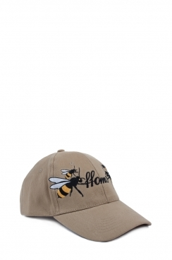 Khaki Unisex FFOMO Bee Embroidered Cap