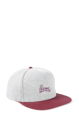 FFOMO Lane Grey Snapback ffomo logo embroidery Cap With Contrast Peak