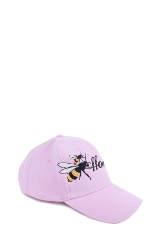 FFOMO Pink Womens FFOMO Bee Embroidered Cap