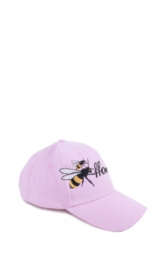Pink Womens FFOMO Bee Embroidered Cap