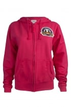 Charlotte London Embroidered Patch Fuchsia Hoodie