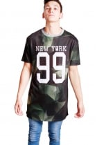 Harry New York Print Camo long over sized T-shirt