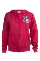 Kay Brooklyn Embroidered Patch Fuchsia Hoodie