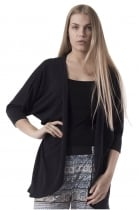 Laura Black Draped Cardigan