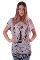 Lizzy Sketch Print Poker Dot Knitted Top