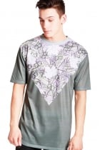 Ollie Tropical V Print Classic Fit T-shirt