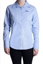 Long Sleeve ffomo logo embroidery light blue fitted Shirt