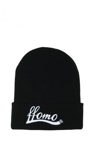 FFOMO Unisex Black FFOMO Embroidered Beanie Hat