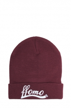 Unisex Burgundy FFOMO Embroidered Beanie Hat