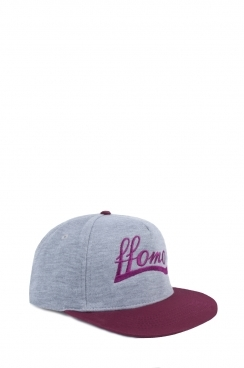 Unisex FFOMO Contrast Burgundy and Grey Snapback