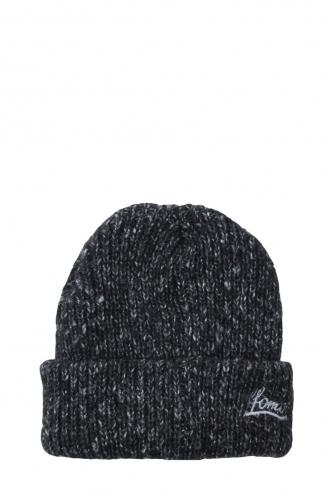 FFOMO Unisex FFOMO Embroidered Mixed Knit Black Beanie