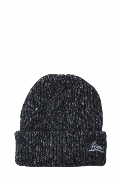 Unisex FFOMO Embroidered Mixed Knit Black Beanie