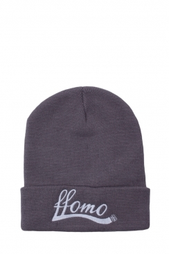 Unisex FFOMO Grey Embroidered Beanie hat