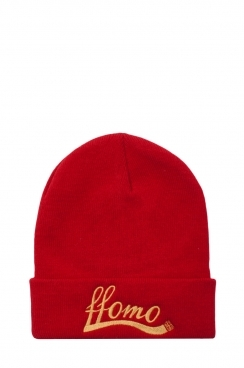 Unisex Red FFOMO Embroidered Beanie